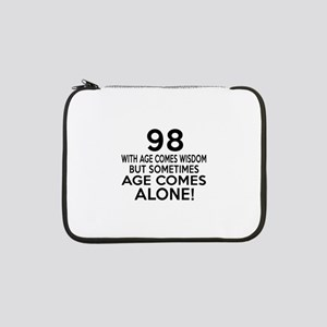 """98 Awesome Birthday Designs 13"""" Laptop Sleeve"""
