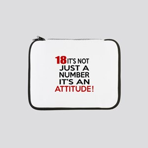 """18 It Is Not Just a Number Birth 13"""" Laptop Sleeve"""