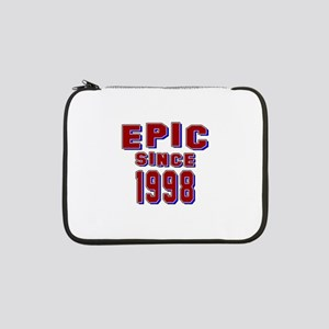 "Epic Since 1998 Birthday Designs 13"" Laptop Sleeve"