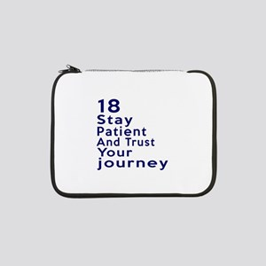 """Awesome 18 Birthday Designs 13"""" Laptop Sleeve"""