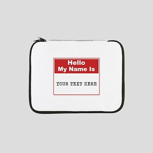 "Custom Name Tag 13"" Laptop Sleeve"