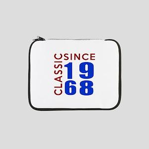 "Classic Since 1968 Birthday Desi 13"" Laptop Sleeve"