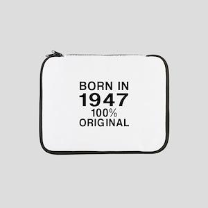"""Born In 1947 13"""" Laptop Sleeve"""