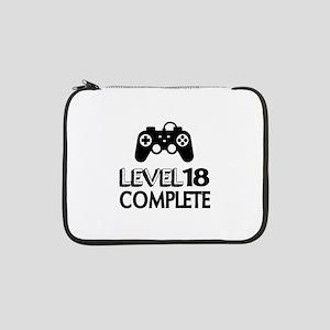 "Level 18 Complete Birthday Desig 13"" Laptop Sleeve"