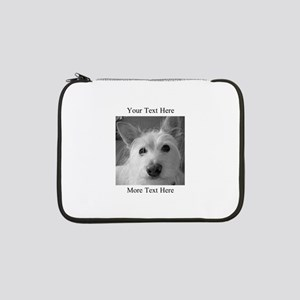 "Your Text and Your Photo Here 13"" Laptop Sleeve"