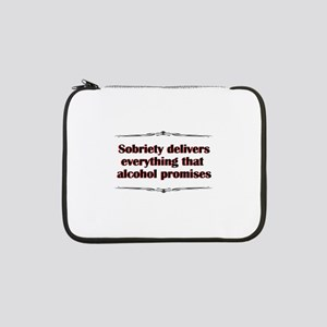 """sobriety-delivers 13"""" Laptop Sleeve"""