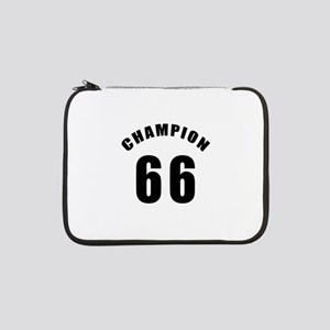 "66 Champion Birthday Designs 13"" Laptop Sleeve"
