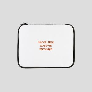 "Three Line Custom Design 13"" Laptop Sleeve"