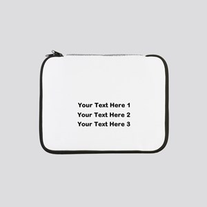 """Make Personalized Gifts 13"""" Laptop Sleeve"""