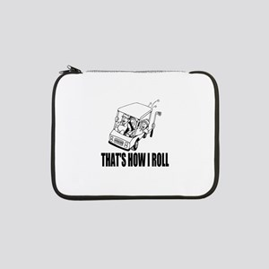 "Funny Golf Quote 13"" Laptop Sleeve"