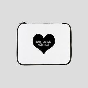 "Black heart 13"" Laptop Sleeve"