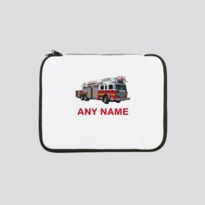 "FIRETRUCK with Any Name or Text 13"" Laptop Sleeve"