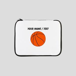 "Custom Orange Basketball 13"" Laptop Sleeve"