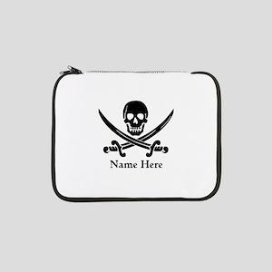 "Custom Pirate Design 13"" Laptop Sleeve"