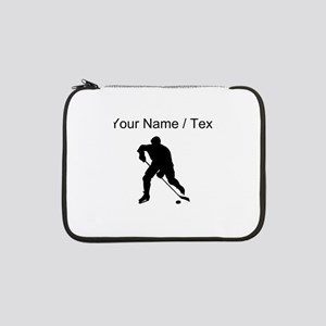 "Custom Hockey Player Silhouette 13"" Laptop Sleeve"