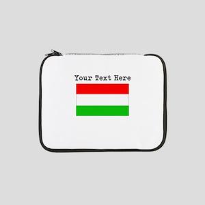"Custom Hungary Flag 13"" Laptop Sleeve"