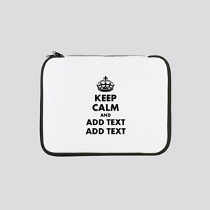 """Personalized Keep Calm 13"""" Laptop Sleeve"""