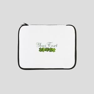 "Personalizable Shamrocks 13"" Laptop Sleeve"