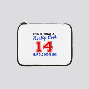 "Really Cool 14 Birthday Designs 13"" Laptop Sleeve"