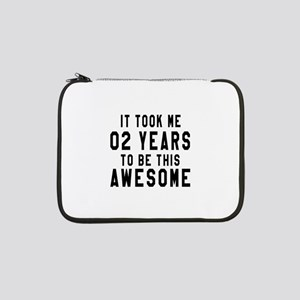"02 Years Birthday Designs 13"" Laptop Sleeve"