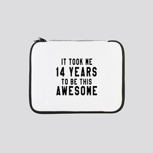 "14 Years Birthday Designs 13"" Laptop Sleeve"