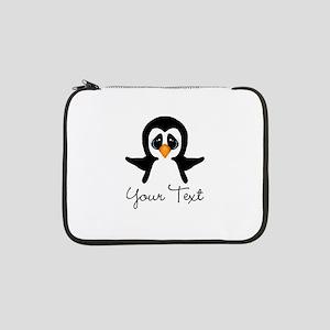 "Personalizable Penguin 13"" Laptop Sleeve"