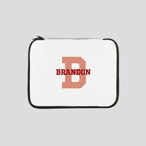 """CUSTOM Initial and Name Red 13"""" Laptop Sleeve"""