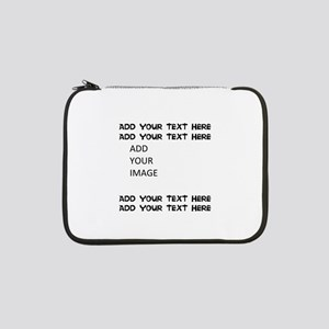 "Custom Text and Image 13"" Laptop Sleeve"