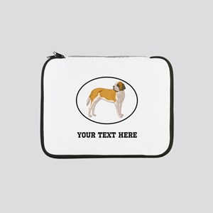 "Custom Saint Bernard 13"" Laptop Sleeve"