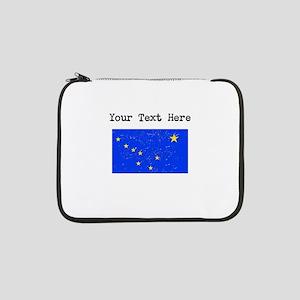 """Alaska State Flag (Distressed) 13"""" Laptop Sleeve"""