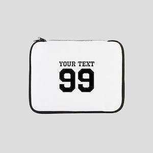 "Custom Sports Jersey Number 13"" Laptop Sleeve"