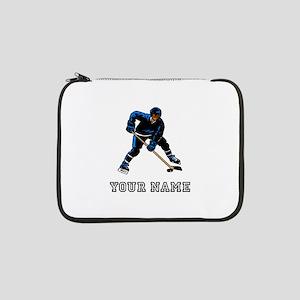 "Hockey Player (Custom) 13"" Laptop Sleeve"
