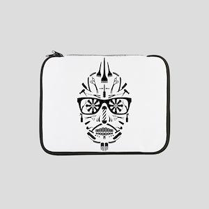 """barbershop punk skull 13"""" Laptop Sleeve"""