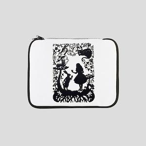 "Alice in Wonderland Silhouette 13"" Laptop Sleeve"