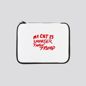 "MY CAT IS SMARTER THAN TRUMP 13"" Laptop Sleeve"