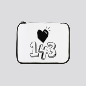 """143 means I Love You 13"""" Laptop Sleeve"""