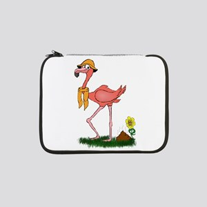 "Flamingo Droppings 13"" Laptop Sleeve"
