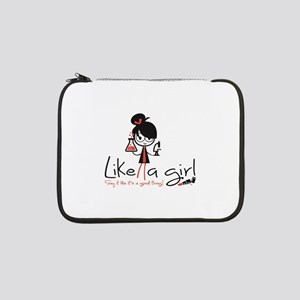 "Science ~ Like A Girl! 13"" Laptop Sleeve"