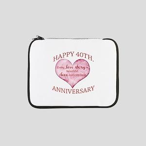 "40th. Anniversary 13"" Laptop Sleeve"