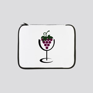 "WINE GLASS GRAPES 13"" Laptop Sleeve"