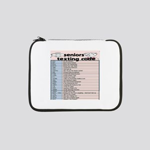 "senior texting code 13"" Laptop Sleeve"