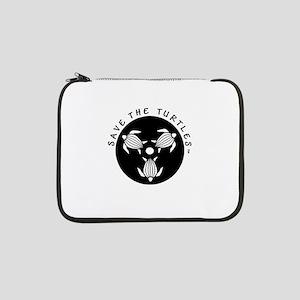 "Save The Turtles Black Logo 13"" Laptop Sleeve"