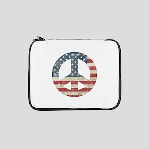 """Vintage Peace In America 13"""" Laptop Sleeve"""