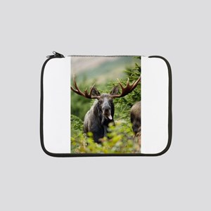 """Mr Moose Sticking Tongue Out 13"""" Laptop Sleeve"""