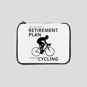 "Cyclist Retirement Plan 13"" Laptop Sleeve"