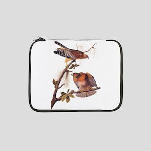 "Red Shouldered Hawk Vintage Audubon Art 13"" Laptop"