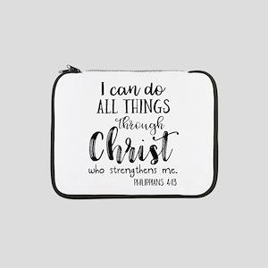 "Philippians 4:13 13"" Laptop Sleeve"