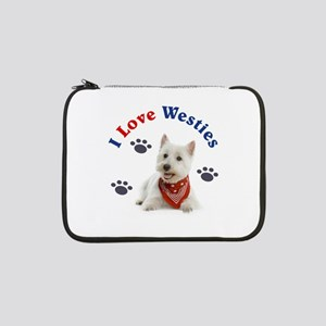 "I Love Westies 111 13"" Laptop Sleeve"