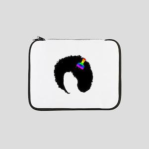 "vintage afro peace 13"" Laptop Sleeve"