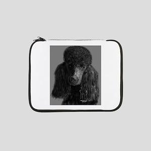 """standard poodle black 13"""" Laptop Sleeve"""